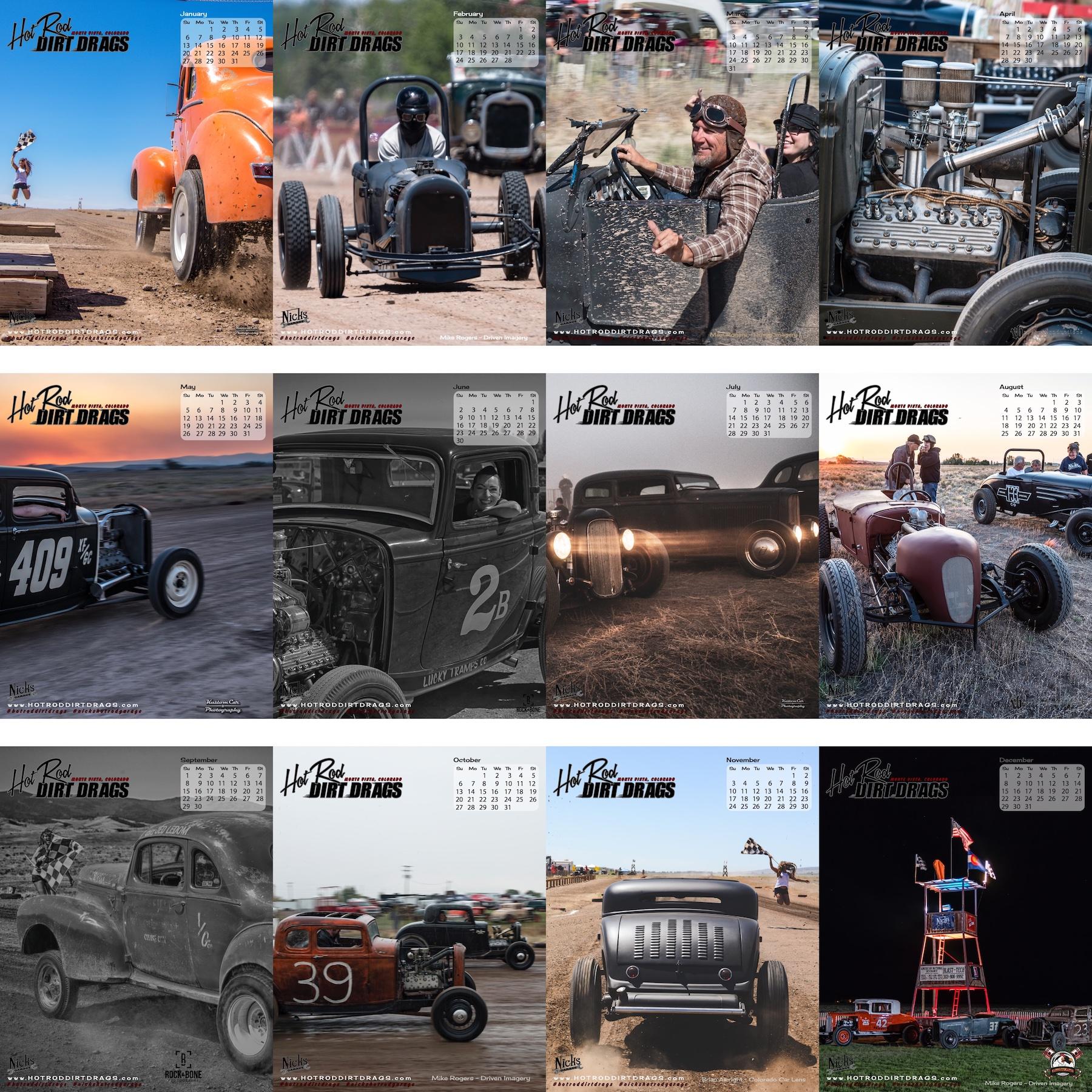 2019 Hot Rod Dirt Drags Calendar